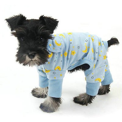 Pet Dog Clothes Jumpsuit Soft Cozy Puppy Dog Shirt Costumes Cat Pajamas Apparel (X-Large, Blue) (Banana Costume For Dogs)