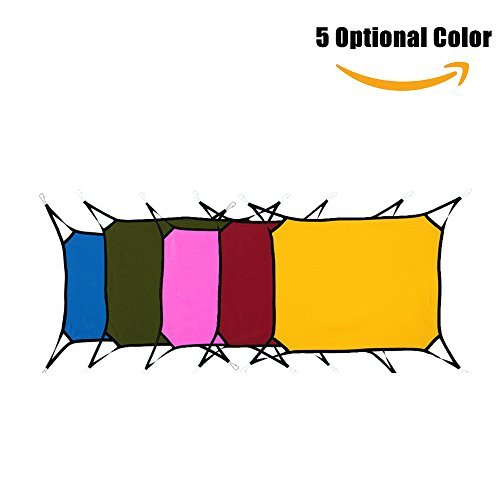 Pet Hammock Bed, for Cats, Rabbit, Rat, Small Dogs, Pack of 1pc, 5 Optional Color, by Delight eShop (Yellow)