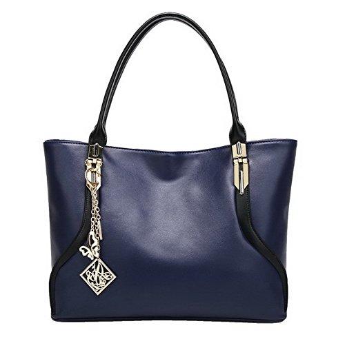 Casual Pu AgooLar Zippers Blue Handbags Fashion Bags Women's Women's AgooLar 1TxFqH1S