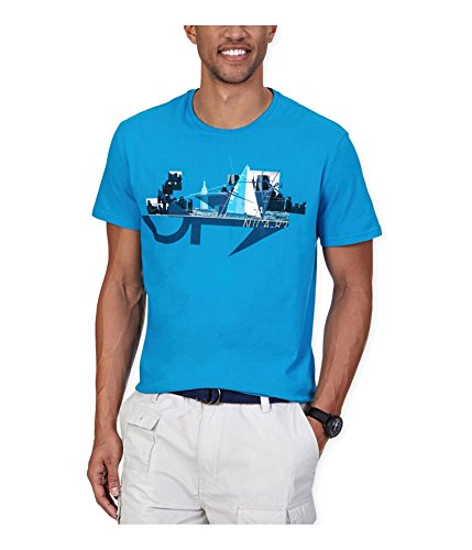 Nautica Men's Yacht in the City Graphic T-Shirt, Star Turquoise, X-Large