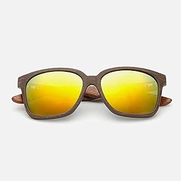 kerrone (TM) 2016 Madera Gafas de sol cuadrado dorado madera ...