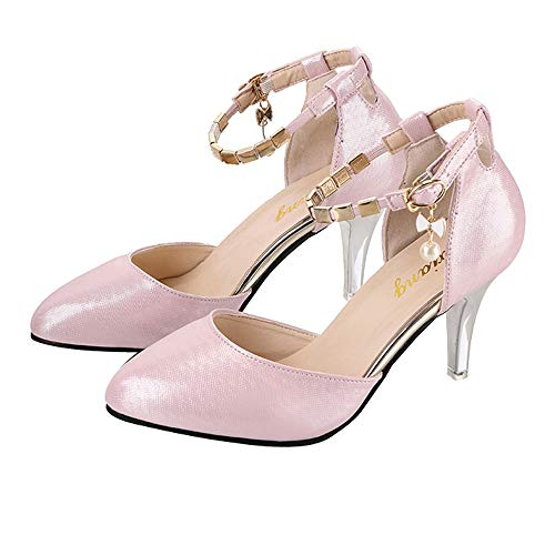 La À Sexy Rose Femme Bout Pointu Talons Soiree nbsp;chic Elegant Cheville Escarpins Tendance Chaussures Petits Sandales Uniques Moika qxUwzTIx