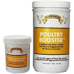 Rooster Booster Vitamins and Electrolytes-with Lactobacillus and Poultry Booster 1.25-Pound 1 of Each 2 Total Items