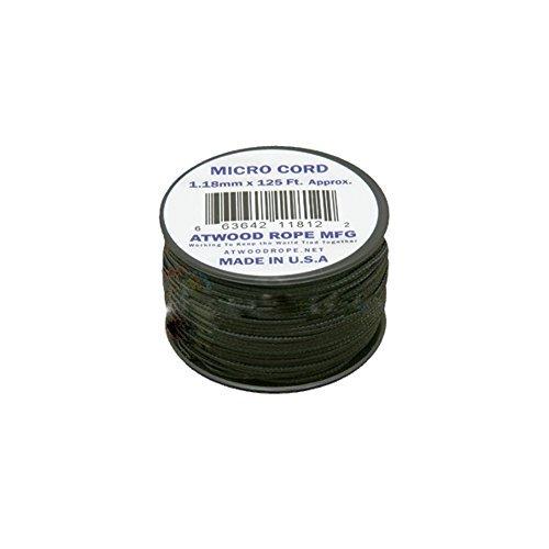 Atwood Rope MFG 1.18mm x 125' Micro Cord, Black