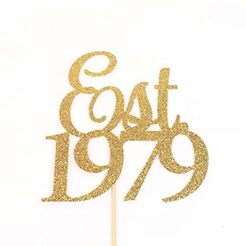 40 Cake Topper Established in 1979 Cake Topper 40th Birthday Cake Topper 40th Anniversary Topper