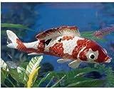 Colorful Japanese Floating Fish Sculpture Statue Aquarium