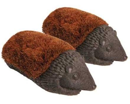 Hedgehog Boot Brush - Set of 2 Esschert Design Giant Hedgehog Boot Brushes