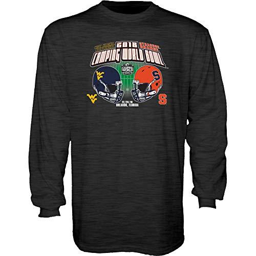 Elite Fan Shop WVU vs Syracuse Camping World Bowl Long Sleeve Tshirt 2018 Charcoal - XXL (Bowl Cotton Syracuse)