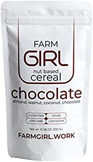 Farm Girl Breakfast Keto Granola - Delicious Chocolate Taste - Low Carb Cereal, Gluten & Grain Free- High