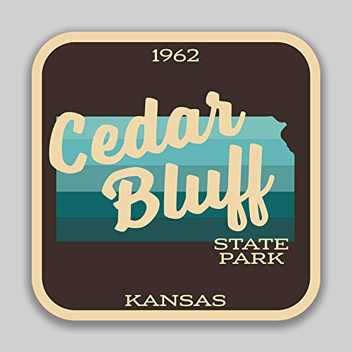 JMM Industries Cedar Bluff State Park Kansas Vinyl Decal Sticker Car Window Bumper 4-Inches 4-Inches Premium Quality UV Protective Laminate SPS01077