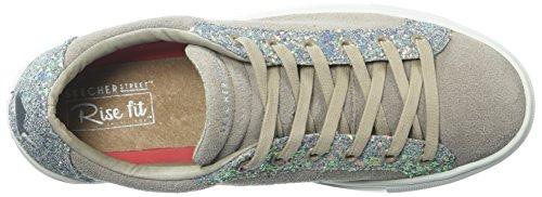Skechers Womens Side Street-glitter Star Ritagliata Sneaker Taupe