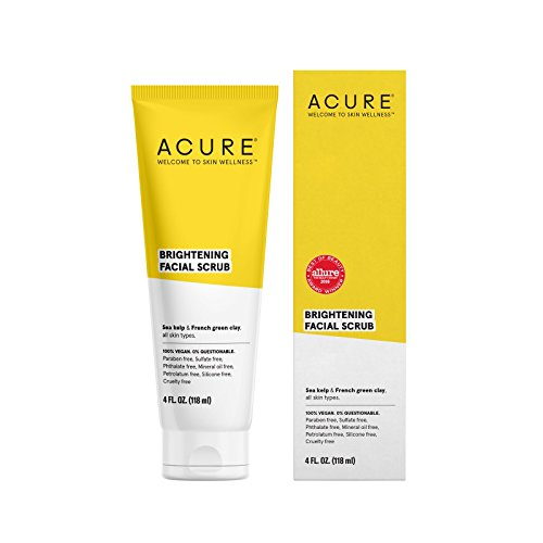 ACURE Brightening Facial Scrub, All Skin Types, 4 Fl. Oz.