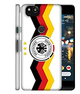 ColorKing Football Germany 26 White shell case cover for Google Pixel 2