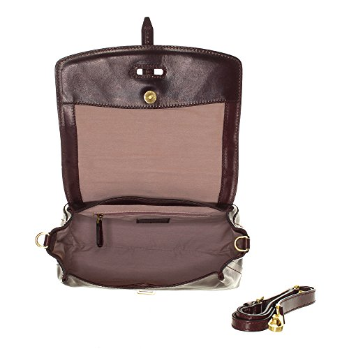rotbraun Braun 30 The Sac Barga Braun à cuir cm main Bridge qSTqpzx