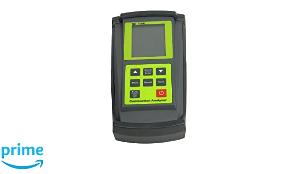 TPI 709RA740 Combustion Efficiency Analyzer with Infrared Printer, Rechargeable Ni-MH Batteries, 3 Line Backlit LCD Display, 14 to 122 Degree F: Leak ...