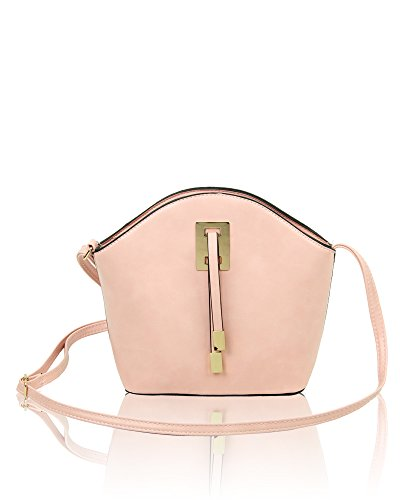 Detail 5cm 8cm With Ribbon Women's Bag Tie 23cm X 19 Shoulder Pink Redfox Small Classic Chic Y046nqqOz