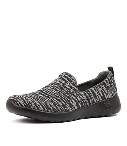 BLACK Gry Grey Skechers Blk Casuals Shoes N GREY Sneakers Black FABRIC Walk Joy Go Womens qnqBF7