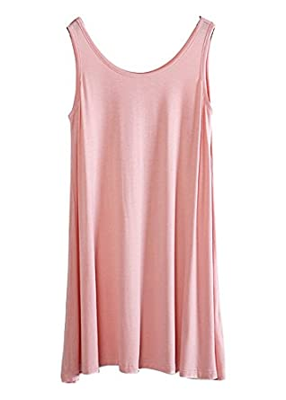 Kevansly Womens Everyday Tank,Comfy Long Swing Tunic Tank Top, Loose Sundress,US 6-22