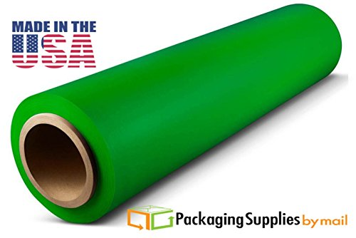 20 Rolls 18'' x 1500 FT x 63 Gauge Thick Stretch Moving & Packing Wrap, Tinted Green Plastic Film by PackagingSuppliesByMail