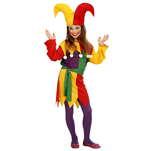 Children's Jolly Jester Costume Medium 8-10 Yrs (140cm) For Clown Fancy Dress - Jester Kids Costume