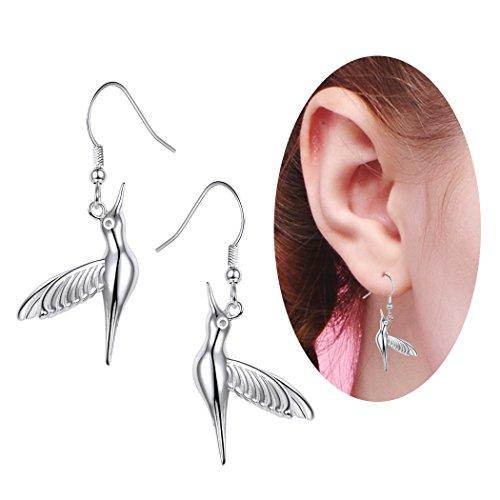 SILVERCUTE Cute Dangle Earring 925 Sterling Silver Bird Animal Drop Earrings by SILVERCUTE