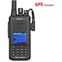 TYT MD-390 (2nd Gen. MD-380) UHF 400-480MHz (70cm) w/GPS Function Digital Mobile Radio IP67 Portable Transceiver Walkie Talkie Tytera DMR/MotoTRBO (TDMA Tier I and Tier II) Two-Way Radio (Amateur)