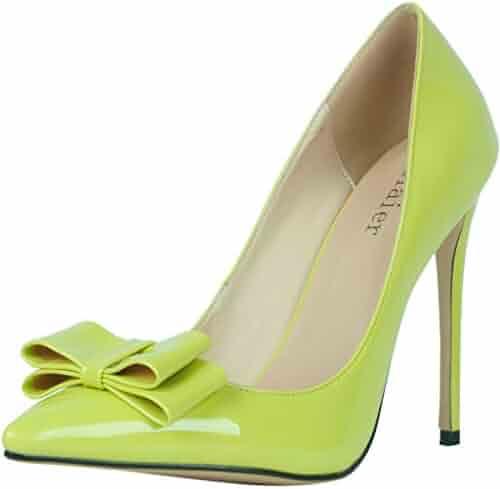 674b35ecd4c Calaier Womens Caor 2016 Luxury Designer Dress Parties Princess Evening Bow  Tie Extreme High Heel Pointed