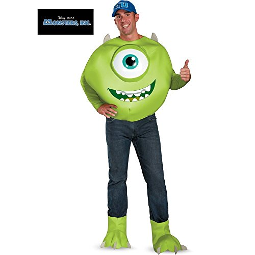 Mike Wazowski Deluxe Adult Costume - (Mike Wazowski Costume For Adults)