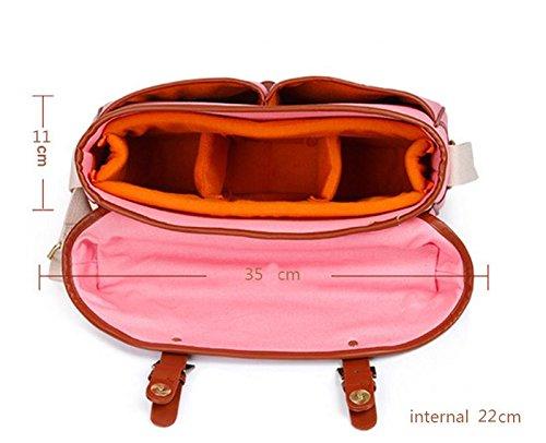 Z&HXsacchetto di spalla casuale impermeabile moda multifunzionale Fotografia borse fotocamera reflex , blue , m