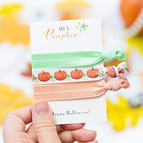 Halloween Pumpkins Party Favors - Hair Ties (5 Pack) ()
