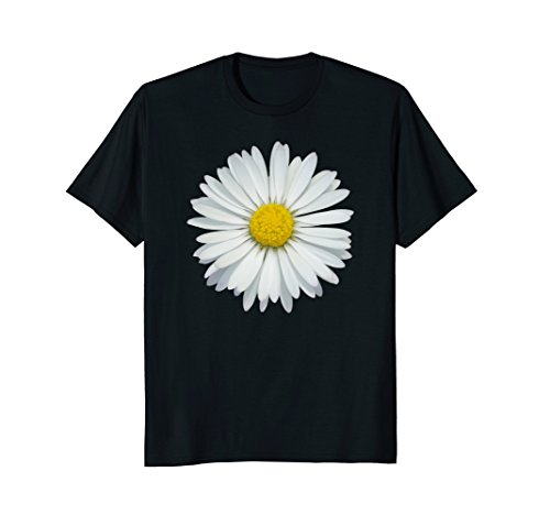 White and Yellow Daisy T-Shirt Flower Rave - T-shirt Daisy Flower