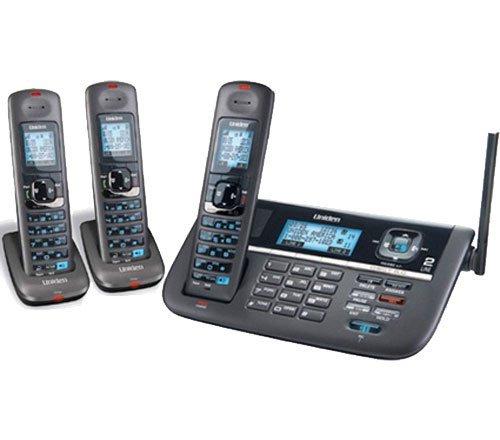Uniden DECT4086 (2 Line) 1.9GHz DECT 6.0 Cordless Telephone Base + 2 DCX400 Cordless ()