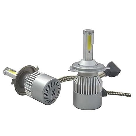 12 000 lm J/&J modelo H1 H4 con anillo adaptador extra/íble H7 Kit de faros de autom/óvil LED COB de 72 W H7 6000 K bombillas para luces de cruce o carretera blanco