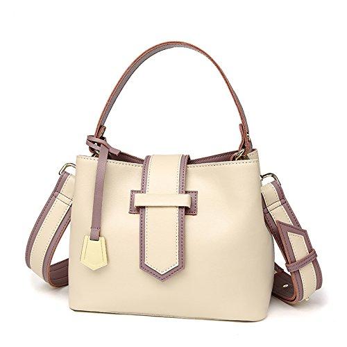 simple and yellow satchel purple leather Lady product bag bucket new shoulder bag handbag Rice GMYAN broadband RnHva6Fw