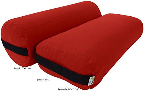 Yoga Bolster - 100 % Organic Rectangle - Tomato Tomato Soft Cushion