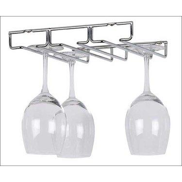 Kitchen Wine and Home Under Cabinet 6 Wine Glass Rack Holder by Kitchen Wine and Home