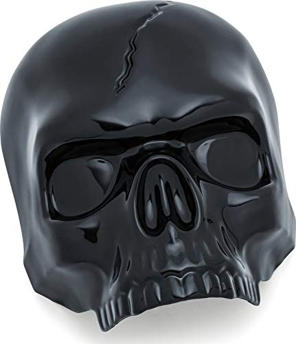Kuryakyn 5731 Gloss Black Motorcycle - Cover Skull Accessories Horn