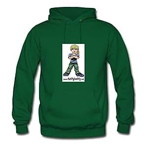 Long-sleeve Duddybuddy Sweatshirts Chic Designed Green Cotton X-large Women Custom
