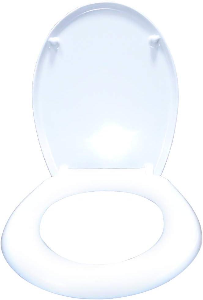 Fixation Facile 25 images au choix Grande s/élection Si/ège de Toilette Aufun Abattant WC Frein de Chute Soft Close en Pastique dur Blanc Antibact/érien Design Couvercle de WC