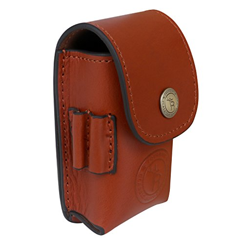 TOURBON Leather Waist Belt Golf Ball Pouch Golf Sports Accessory