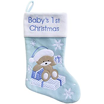 277521799 Amazon.com  Baby s First Personalized Christmas Stocking Girl  Home ...