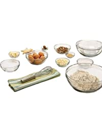 Win 10 Pieces Tempered Glass Mixing Bowl Set, Clear opportunity