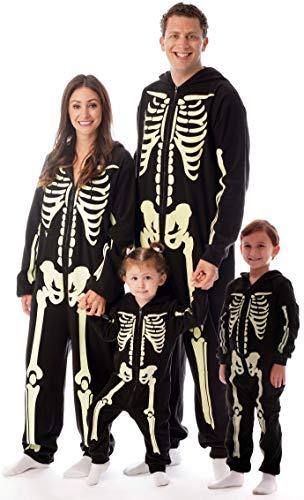 #followme Glow in The Dark Skeleton Boys Jumpsuit Pajamas 6541-3T