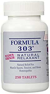 Dee Cee Labs Formula 303 Maximum Strength Natural Relaxant Tablets, 250 Tablets by KWT