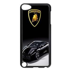Design Logo Lamborghini For IPod Touch 5 TPU Hard Plastic Case-white