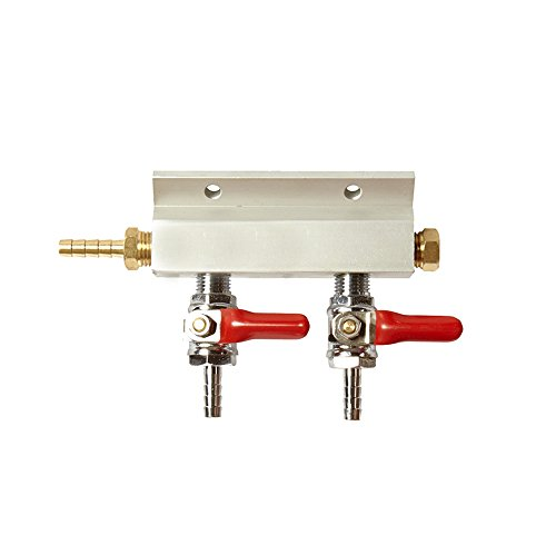 (Two Way Compressed Gas Manifold - Gas Line Splitter)