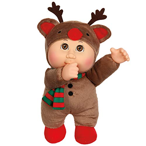 Cabbage Patch Preemies - Cabbage Patch Cuties Cocoa Reindeer 9 Inch Soft Body Baby Doll - Holiday Helper Collection