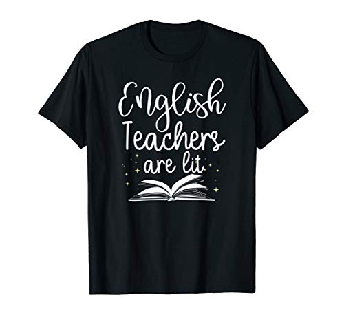 English Teachers Are Lit Book Reader T-Shirt, used for sale  Delivered anywhere in USA