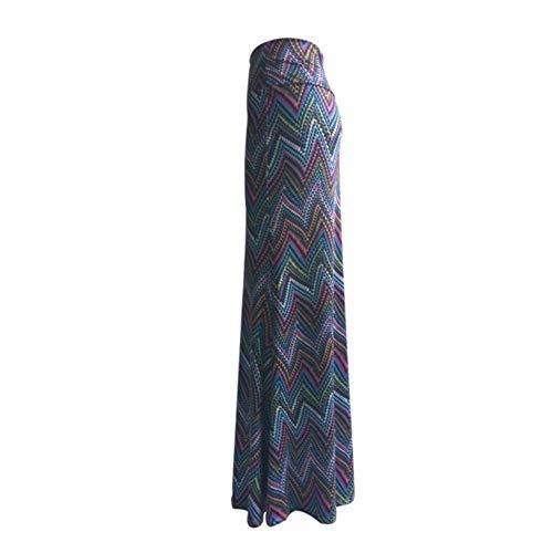 d Longue Jupe Taille Femmes Yixiudz Boheme Bleu Maxi Jupe Trapze Longue Crayon Haute T78qnwOx