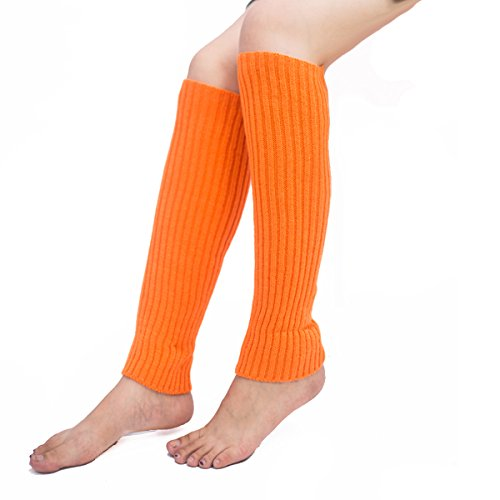 (Leg Warmers,Unisex Thigh High Stretch Knit Leg Warmers Ribbed Knit Dance Sports Leg Warmers)